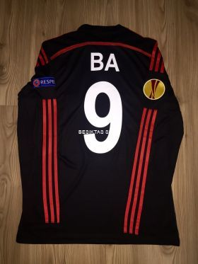 Besiktas # 9 BA LS Away Match Jersey 2014/15 ( UEFA UEL Badge + UEFA Respect Badge ) Size L
